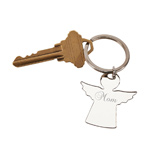 Personalized Silver Angel Shape Key Chain