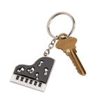 Personalized Piano Key Chain with Crystal Accents