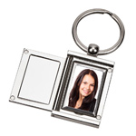 Personalized Silver Rectangular Photo Locket Key Chain