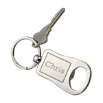 Personalized Silver Bottle Opener Key Chain