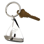 Personalized Silver Sailboat Key Chain