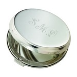 Personalized Round Hinged Compact Mirror