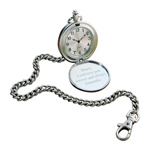 Personalized Stainless Steel Pocket Watch with 12