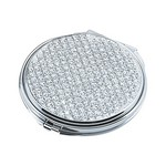 Personalized Glitter Galore Round Compact Mirror
