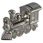 Personalized Polished Finish Train Metal Bank