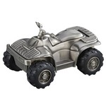 Personalized Pewter Finish All Terrain Vehicle Metal Bank