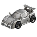 Personalized Pewter Finish Sports Car Metal Bank