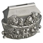 Personalized Pewter Finish Noah's Ark Metal Bank