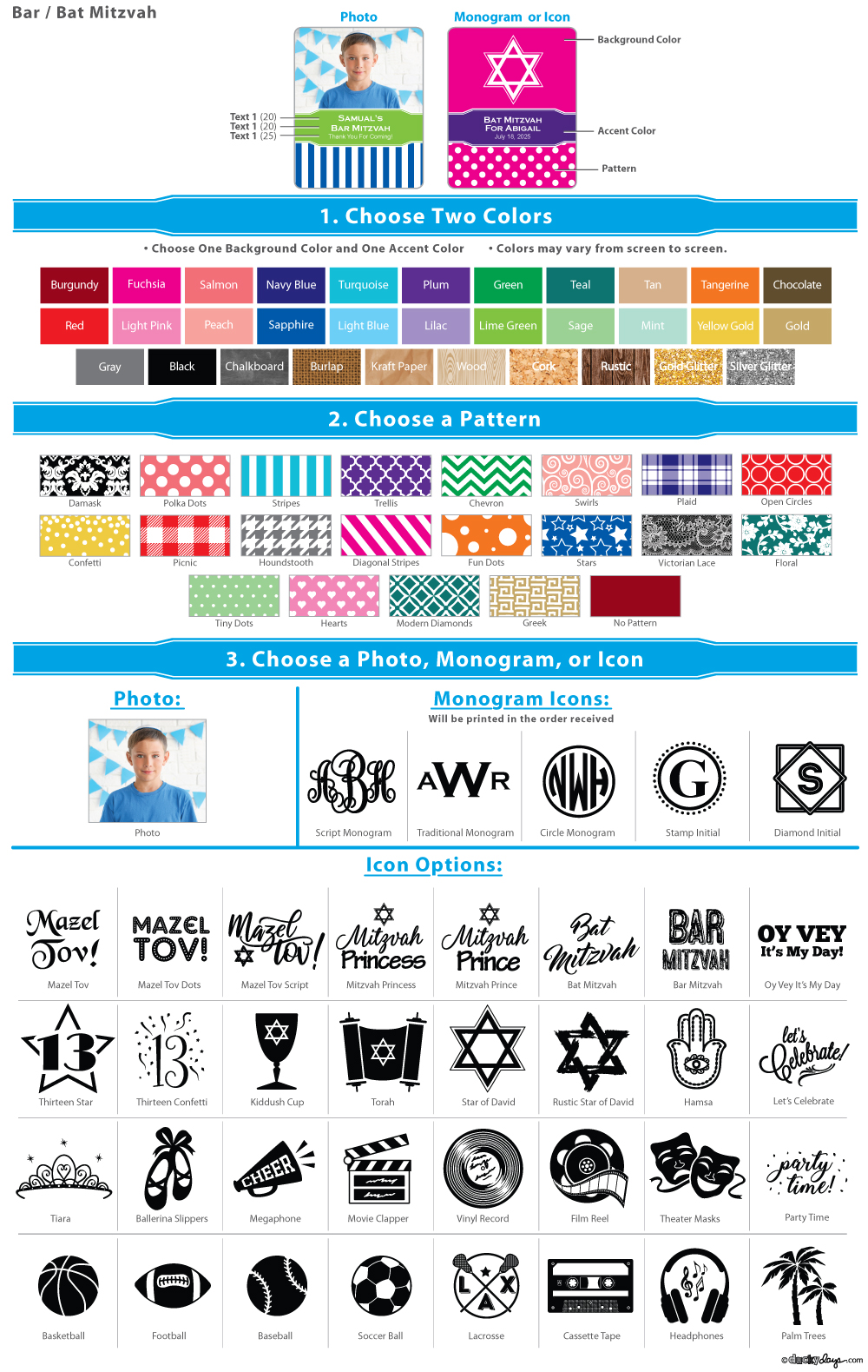 You Choose Letter Color Monogram Fuchsia Swirl ID Badge Clip