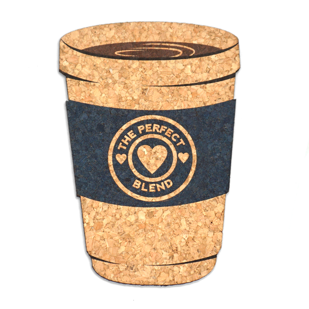 Wedding Favors Coaster.The Perfect Blend Coffee Cup Cork Coaster Wedding Favors Set Of 4