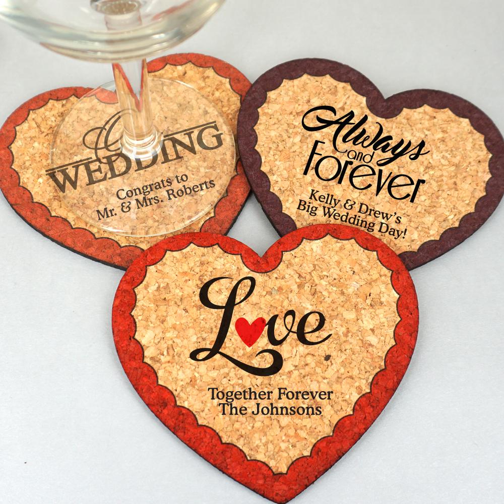 Wedding Cork Coaster