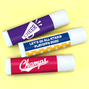 Personalized Lip Balm - Sports Themed (White Tube)