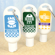 Personalized Sunscreen with Carabiner (SPF 30) - Sports Themed