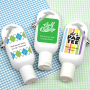 Personalized Golf Themed Sunscreen with Carabiner (SPF 30)