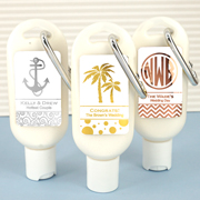 Personalized Metallic Foil Sunscreen with Carabiner (SPF 30)