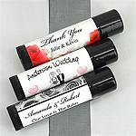 Personalized Wedding Lip Balm (Black Tube)