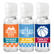 Personalized Sports Themed Hand Sanitizer Favors