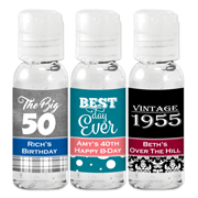 Personalized Adult Birthday Hand Sanitizer Favors