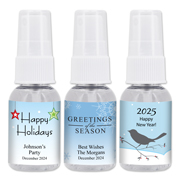 Personalized Holiday Hand Sanitizer Favors - 1oz Spray
