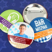 Bar Mitzvah & Bat Mitzvah Personalized Buttons (2.25