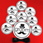Groom's Bridal Party Buttons (Set of 12, plus 1 Free)