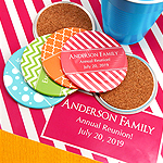 Personalized Round Coasters - Silhouette Collection (3.5