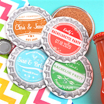 Vintage Bottle Cap Personalized Two-Sided Coaster