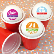 Personalized Adult Birthday Ping Pong Ball Favors