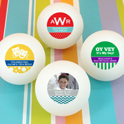 Bar Mitzvah & Bat Mitzvah Personalized Ping Pong Ball Favors