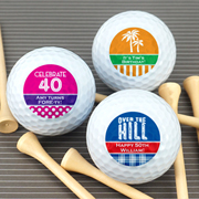 Personalized Adult Birthday Golf Ball Favors