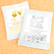 Personalized Metallic Foil Mango Margarita Favors