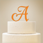 Personalized Single Initial Cake Topper