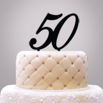 Personalized Number Cake Topper