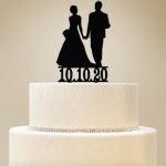 Personalized Bride & Groom Cake Topper