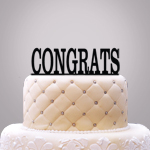 Personalized Classic Text Cake Topper