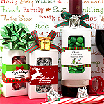 Personalized Holiday Bottle Hanger Favor Boxes