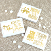 Personalized Metallic Foil Mint Box Favors