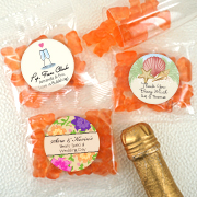 Personalized Gummy Bear Wedding Favors - Champagne Flavor