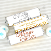 Personalized Metallic Foil Breath Savers Mint Rolls