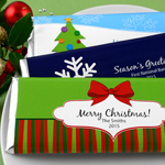 Personalized Holiday Hershey's Bar Wrappers