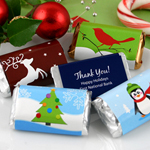 Personalized Holiday Hershey's Miniatures Wrappers