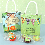 Personalized Baby Life Savers Candy Mini Gift Tote Favors