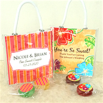 Personalized Life Savers Candy Mini Gift Tote Favors