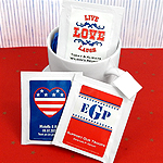 Personalized Patriotic Tea Favors