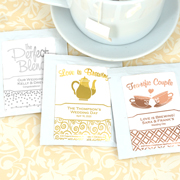 Personalized Metallic Foil Tea Favors