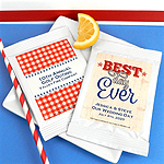 Personalized Patriotic Lemonade Favors