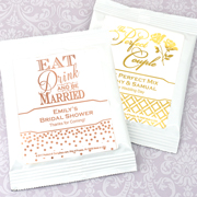 Personalized Metallic Foil Lemonade Favors