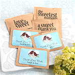 Personalized Wedding Natural Raw Sugar Packets (Set of 100)