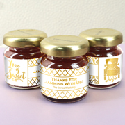 Personalized Metallic Foil Strawberry Jam Favors