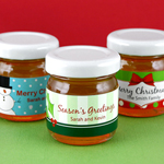 Personalized Holiday Honey Favors
